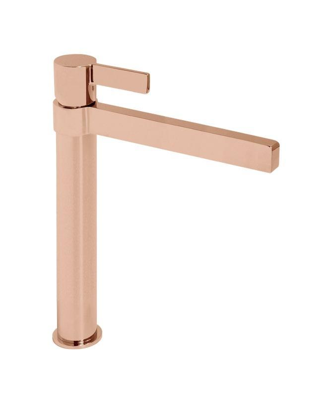 Martini Ritz Extended Basin Mixer (Polished Rose Gold)