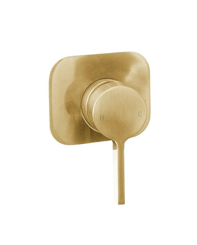 Martini Ritz Wall Mixer (Brushed Gold)