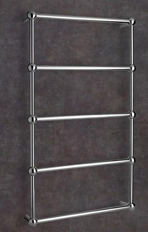 Thermorail Heritage Heated Towel Rail Straight/Round/Ball Detail 5 Bars SB34M