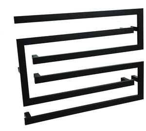 Thermorail Three Piece Heated Towel Rail Black