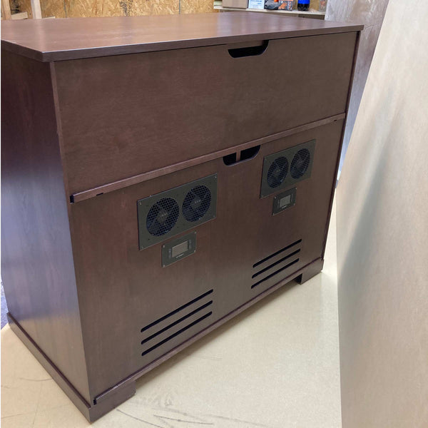 Solid Cherry Tall Custom Media Console TV Stand Made in USA