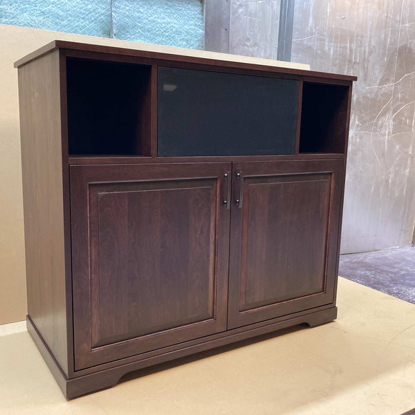 Solid Cherry Media Console with Pocket Doors Made in USa