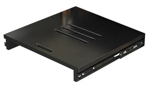 Optional pull-out shelf for turntables