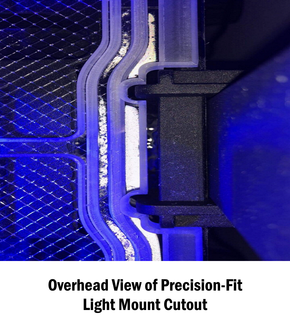 Precision-Fit Light Mount Cutout for Red Sea ReefLED 90