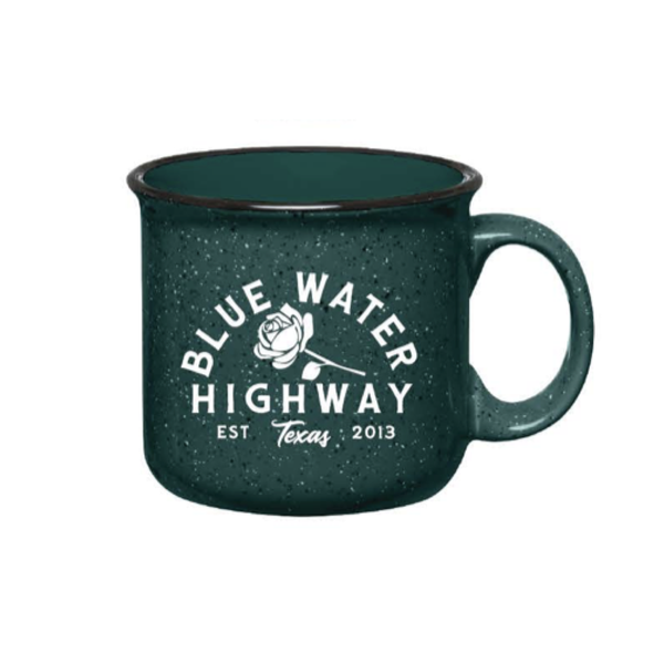 Blue Water Highway Rose Mug