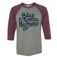 Maroon and Navy Baseball Tee