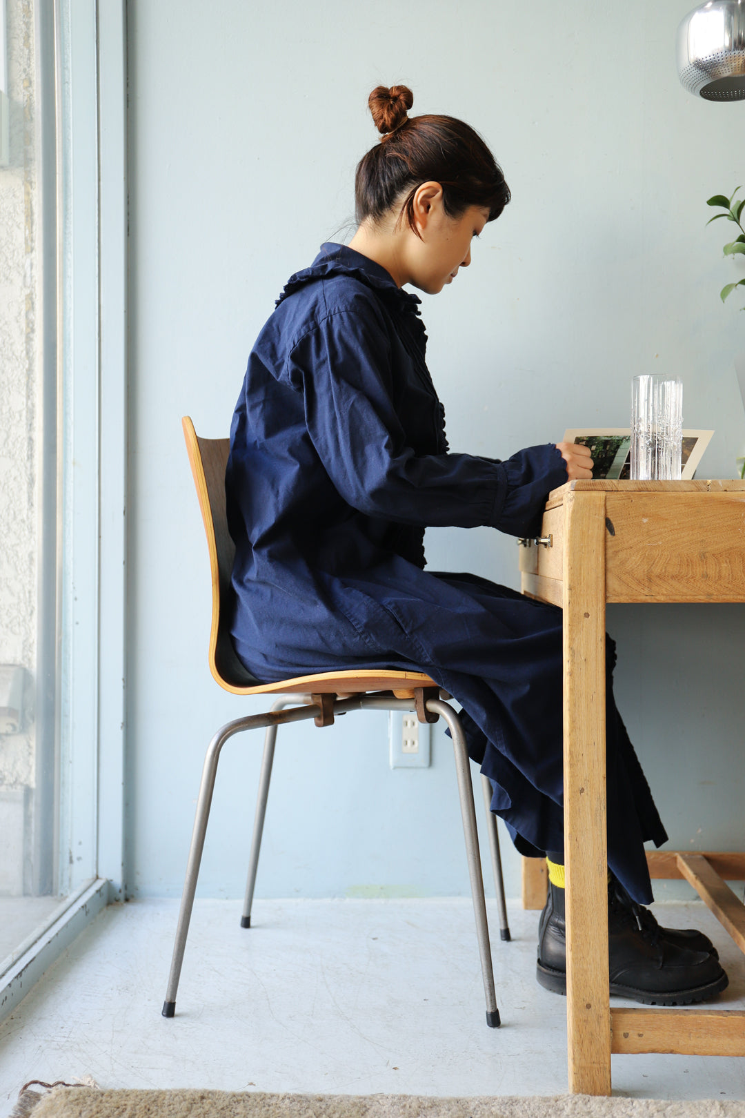 MH Stålmøbler Teak Plywood Stacking Chair/デンマークヴィンテージ スタッキングチェア チーク材 プライウッド 椅子 ミッドセンチュリー モダン 北欧家具