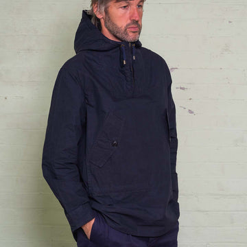 The Hooded Smock - Navy