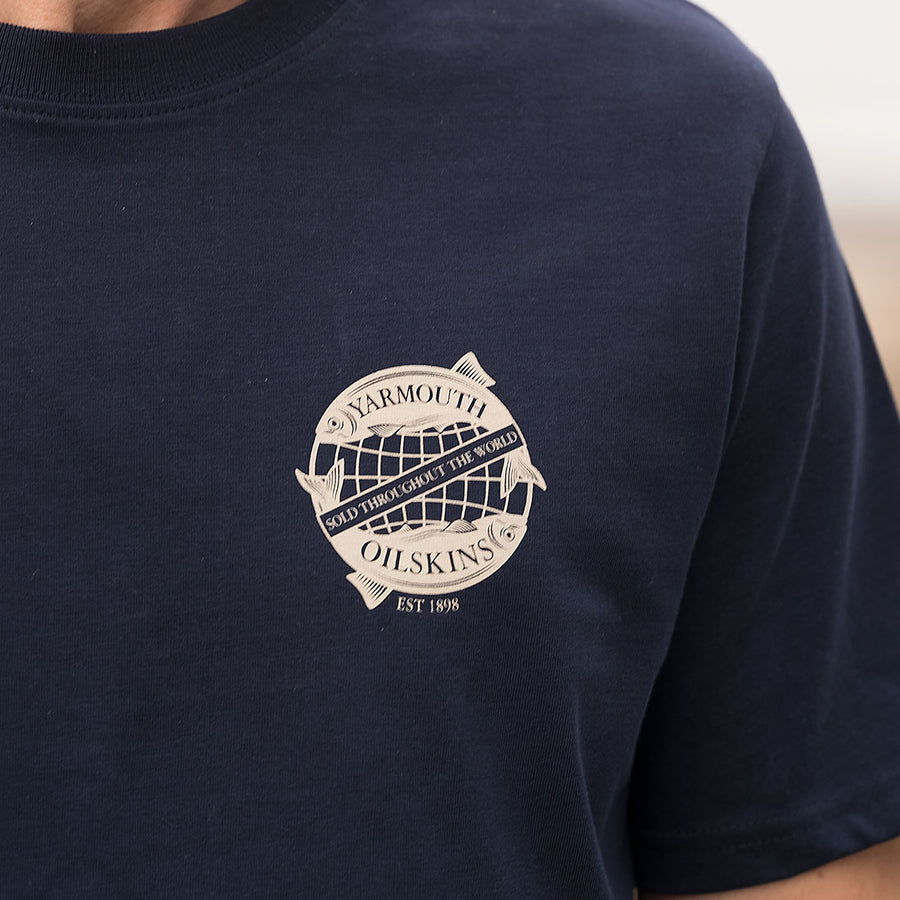 The Globe Logo Tee Shirt - Navy