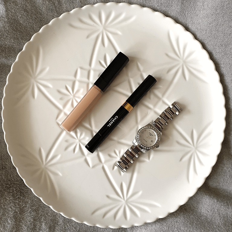 Chanel Concealers displayed on plate