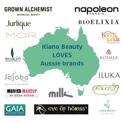 Kiana Beauty Melbourne loves Aussie brands. Online stockist of Australian skincare, makeup and beauty