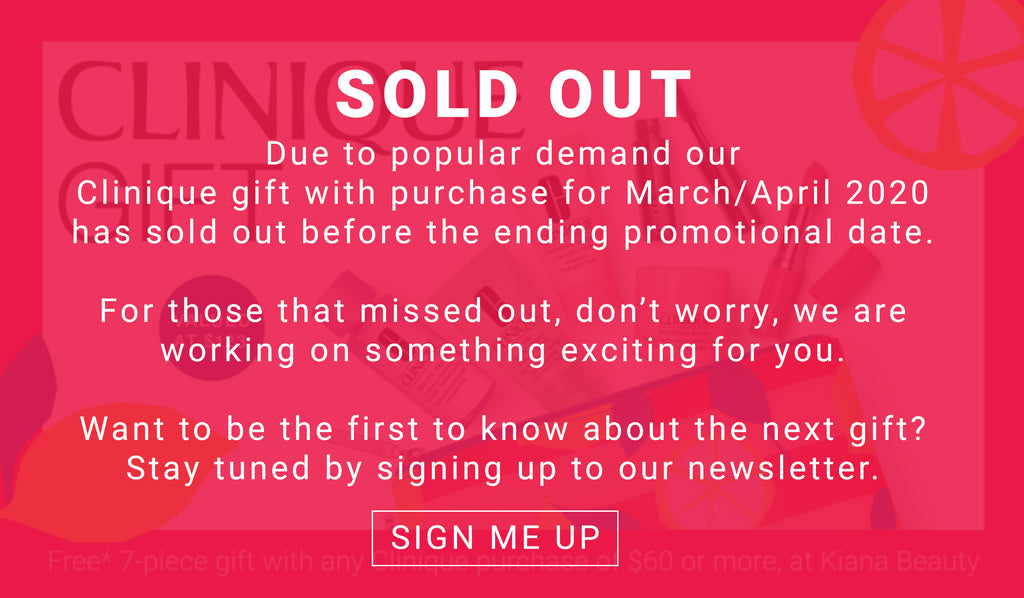 Clinique Gift with Purchase Sold Out | March April 2020