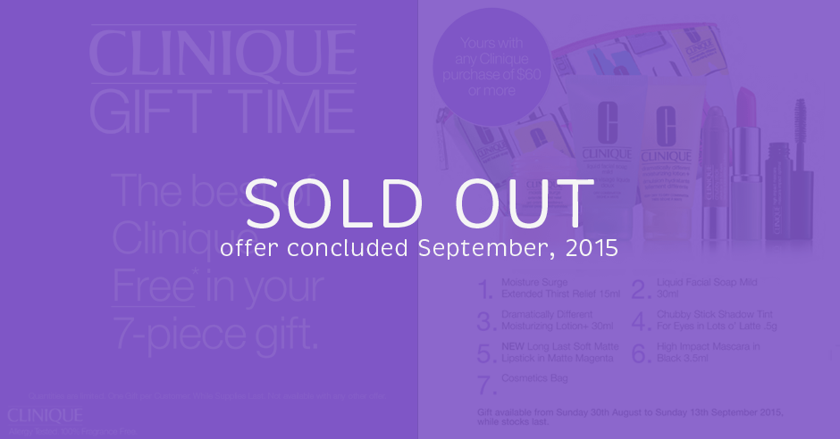Clinique Gift Time 2015