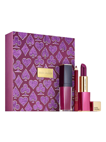 Kiana Beauty | Estee Lauder | Casino Royale Plum Lips Limited Edition Set