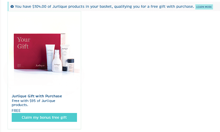 How to add Jurlique Gift with Purchase to your basket