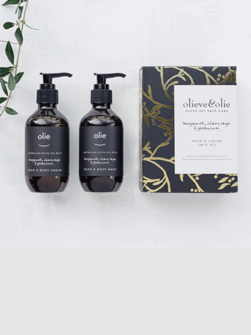 Kiana Beauty | Olieve & Olie | Wash and Cream Twin Set