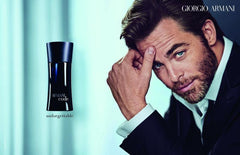 Giorgio Armani Code for Men featuring Chris Pine.