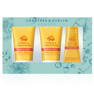 Crabtree & Evelyn Citron & Coriander Travel Ritual 3-piece Set