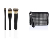 TBX The Beauty Exchange Compact Makeup Brush Set - 3 piece