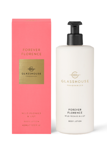 Glasshouse Fragrances Forever Florence Wild Peonies & Lily Body Lotion