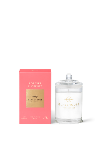 Glasshouse Fragrances Forever Florence Wild Peonies & Lily Mini Soy Candle