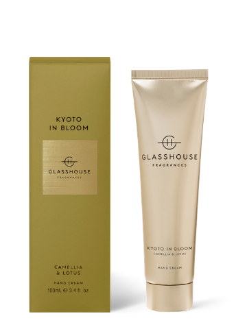 Glasshouse Fragrances Kyoto in Bloom Camellia & Lotus Hand Cream