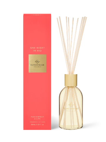 Glasshouse Fragrances One Night in Rio Passionfruit & Lime Fragrance Diffuser