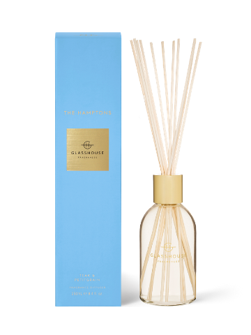 Glasshouse Fragrances The Hamptons Teak & Petitgrain Fragrance Diffuser