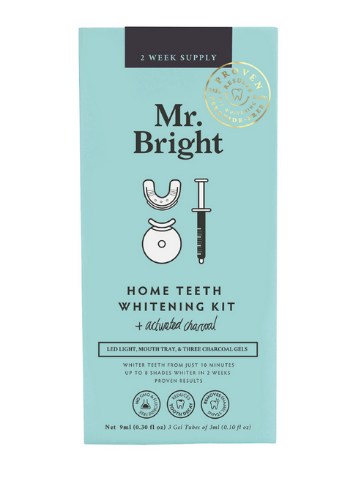 Mr Bright Activated Charcoal LED Whitening Kit - 2 week supply 9ml