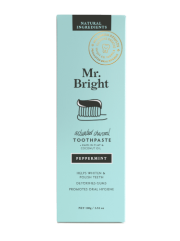 Mr Bright Activated Charcoal Toothpaste Peppermint