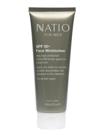 Natio For Men SPF 50+ Face Moisturiser