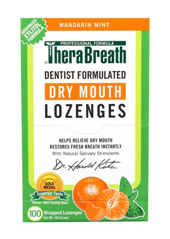 TheraBreath Dry Mouth Lozenges Mandarin Mint