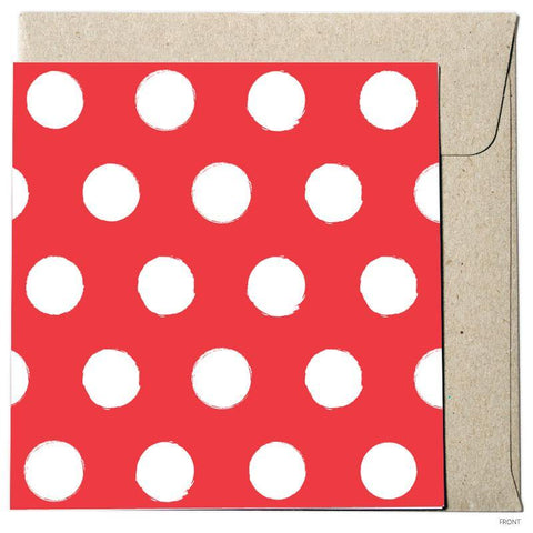 Polka Dot - Lipstick Red