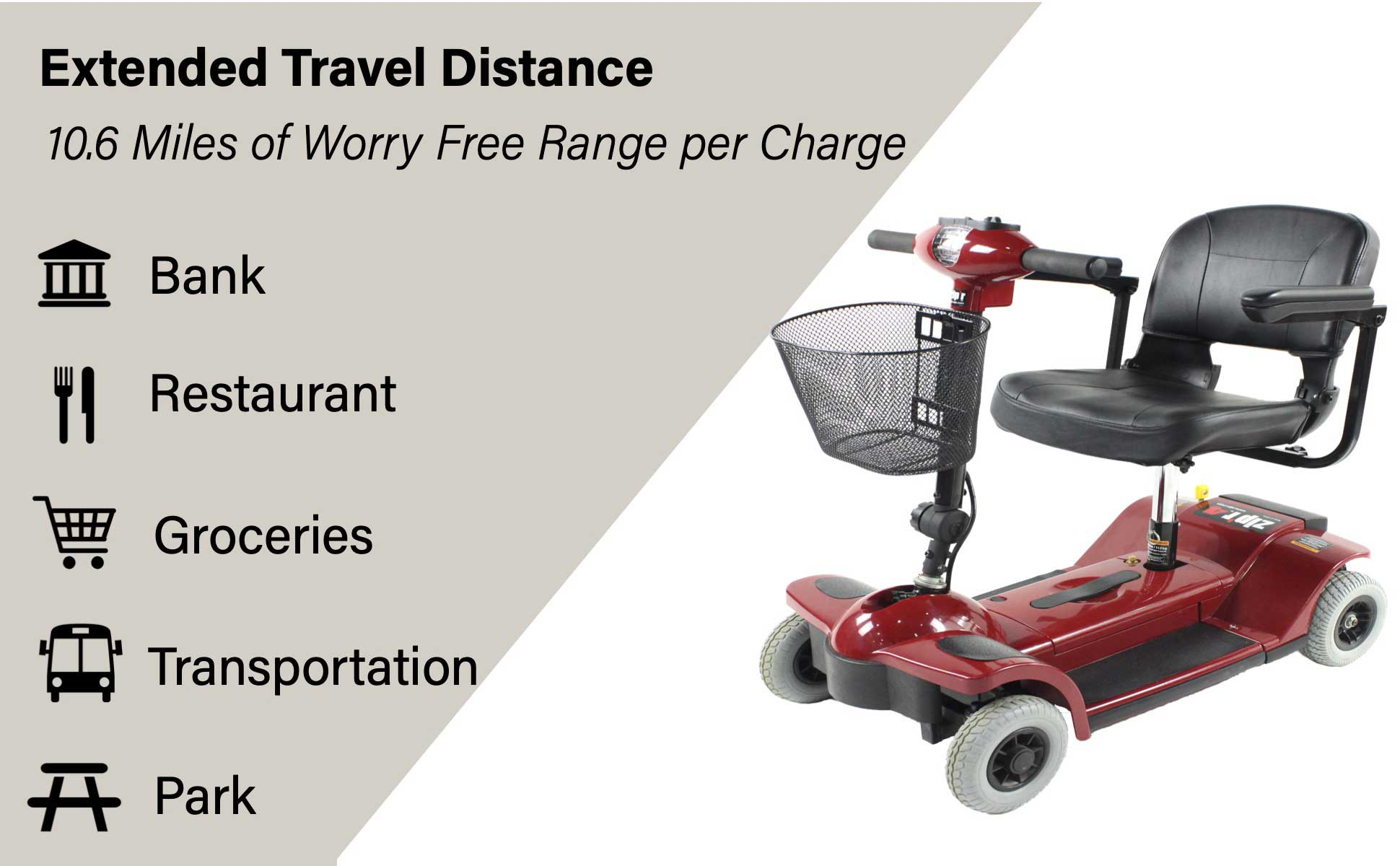 Zipr 4 Xtra Long Range Mobility Scooter