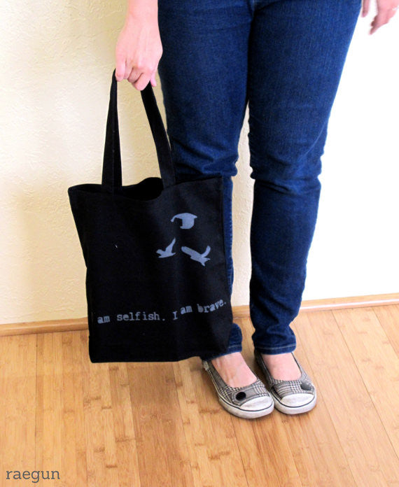 Birds and Quote Book Bag