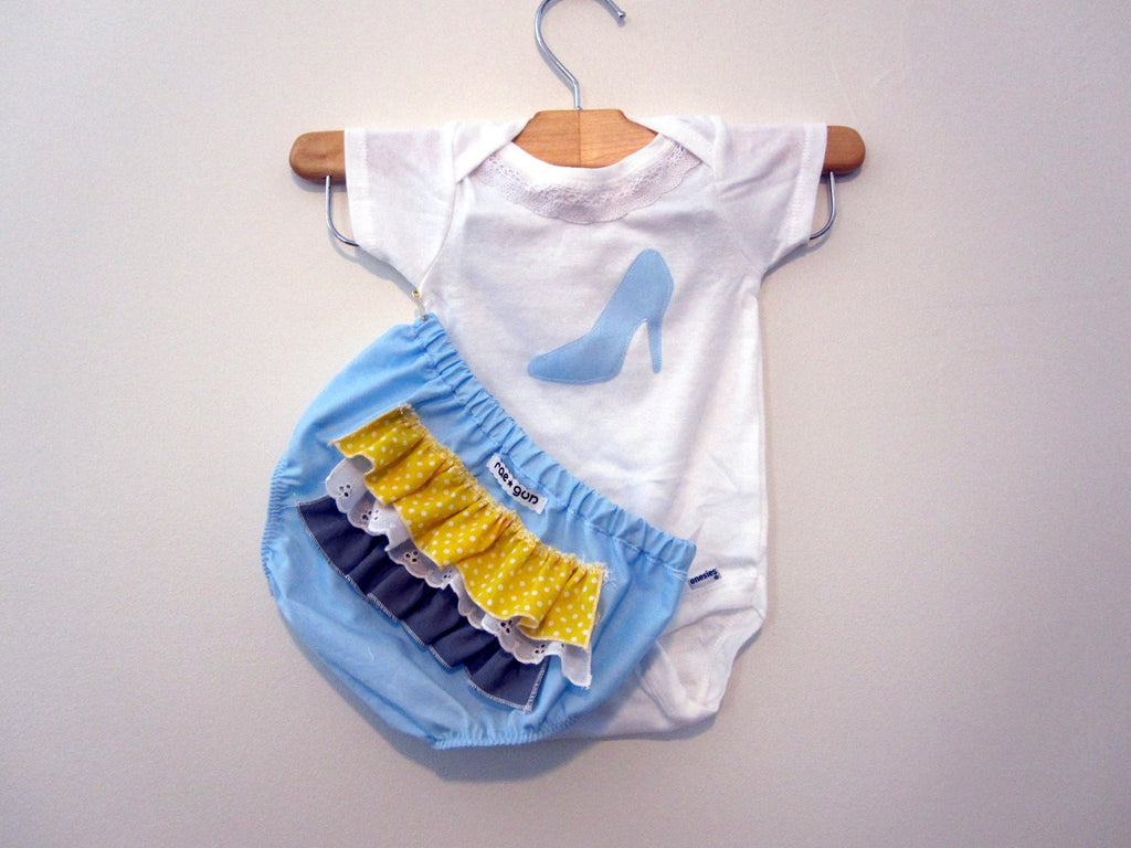Onesie - Cinderella - Ruffle Diaper Covers Gift Set - Baby Girl - Bottoms - princess