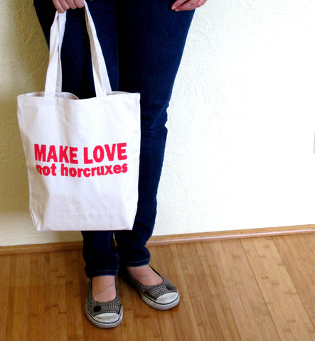 Make Love Not Horcruxes Book Bag