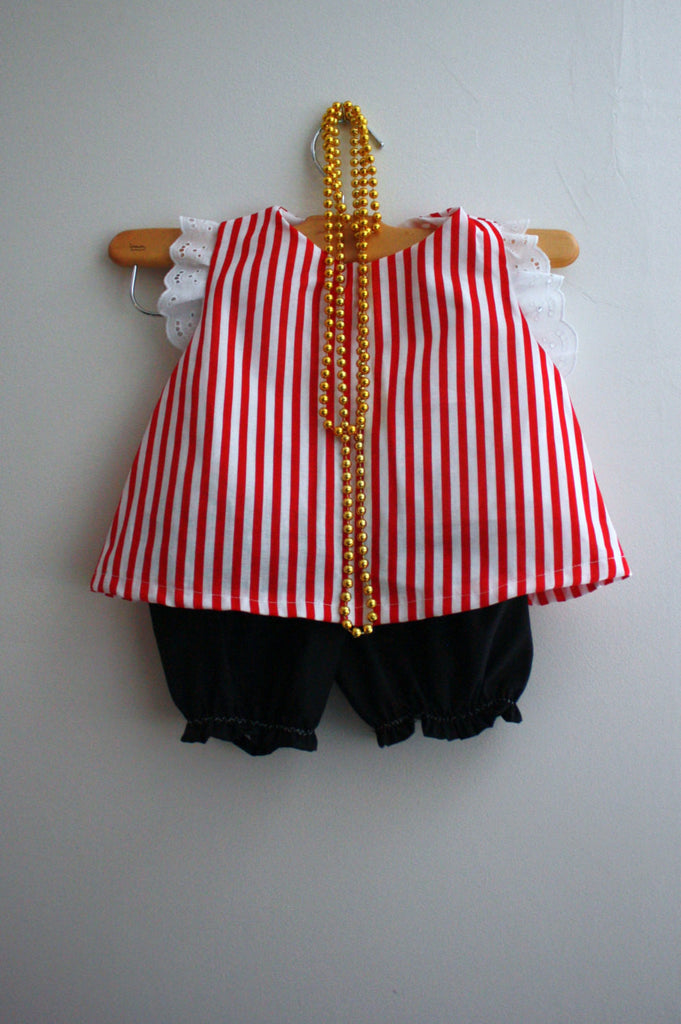 Pirate Girl Costume Tunic and Black Bloomers