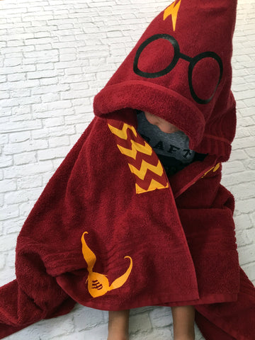 Wizard Robe Hooded Towel