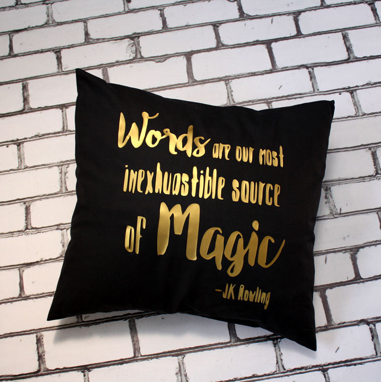 Words are Magic Quote Pillow