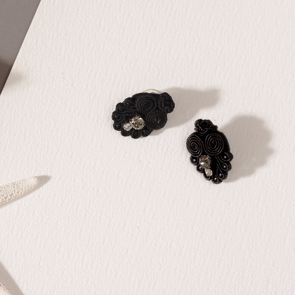 Black Patina Earring