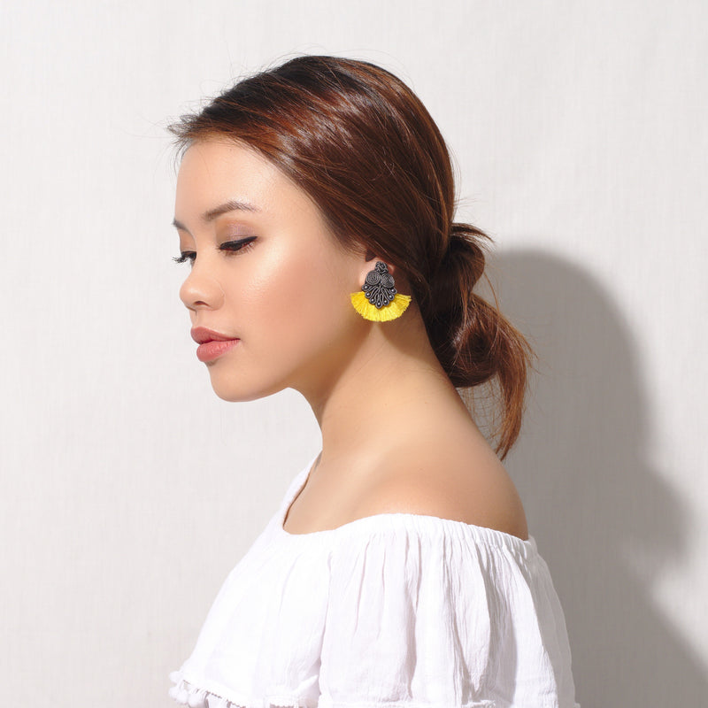 Yellow Canary Mini Tassel Earring