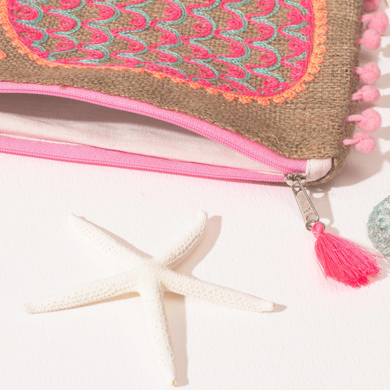 Pina Colada Pouch - Pink