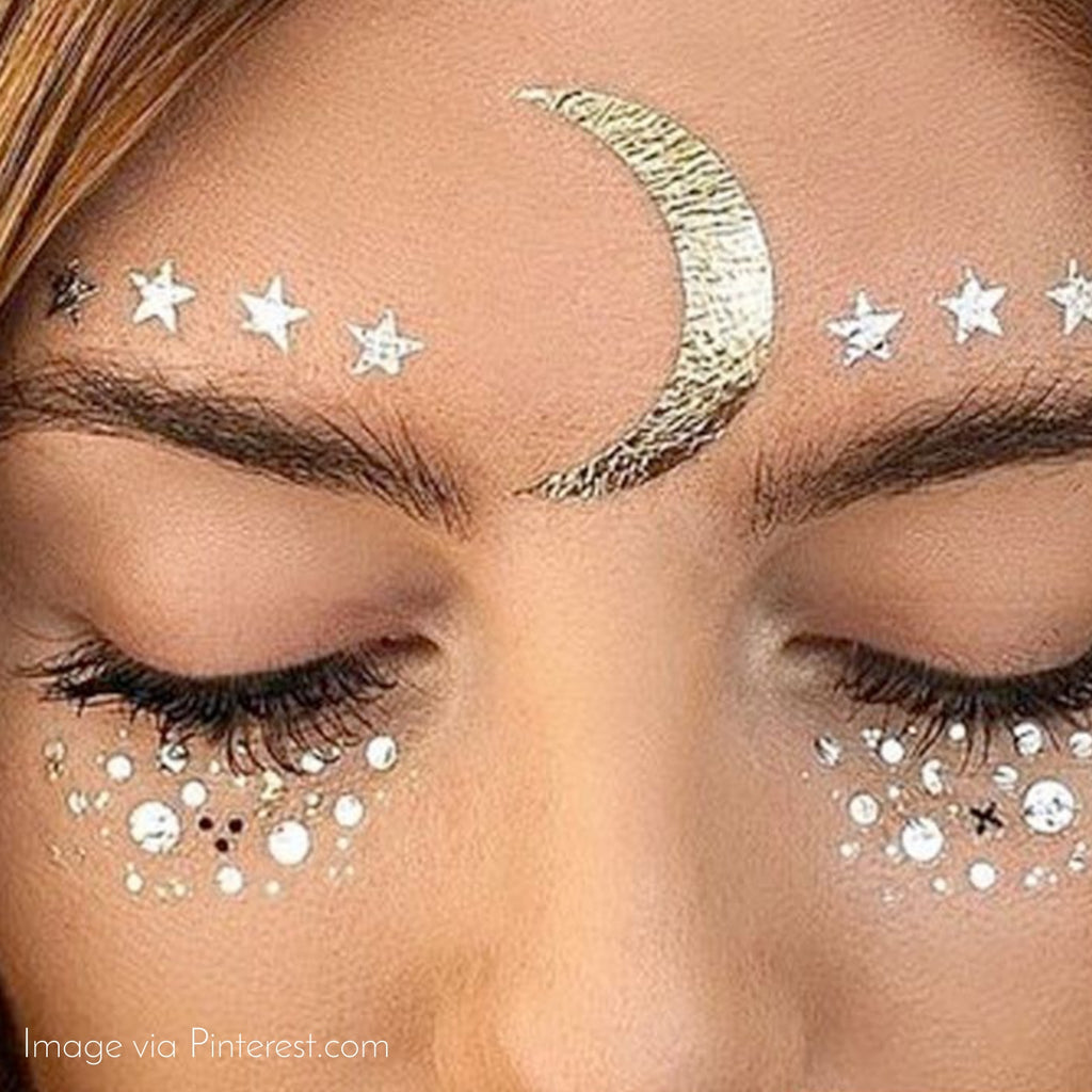 Stars In Our Eyes Face Tattoo