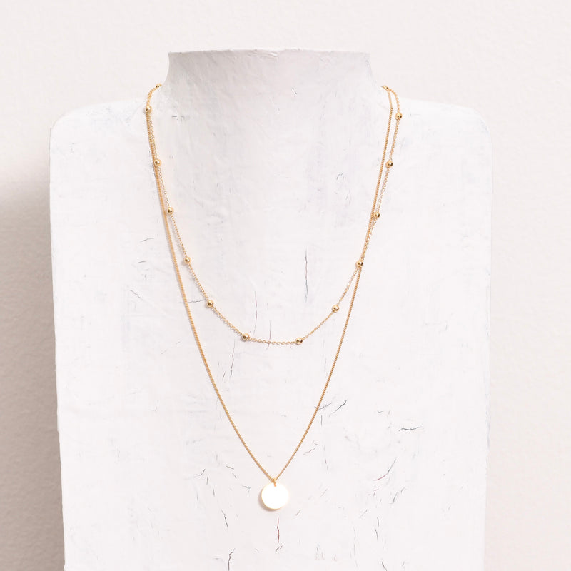 Lola Layered S925 Necklace | Gold