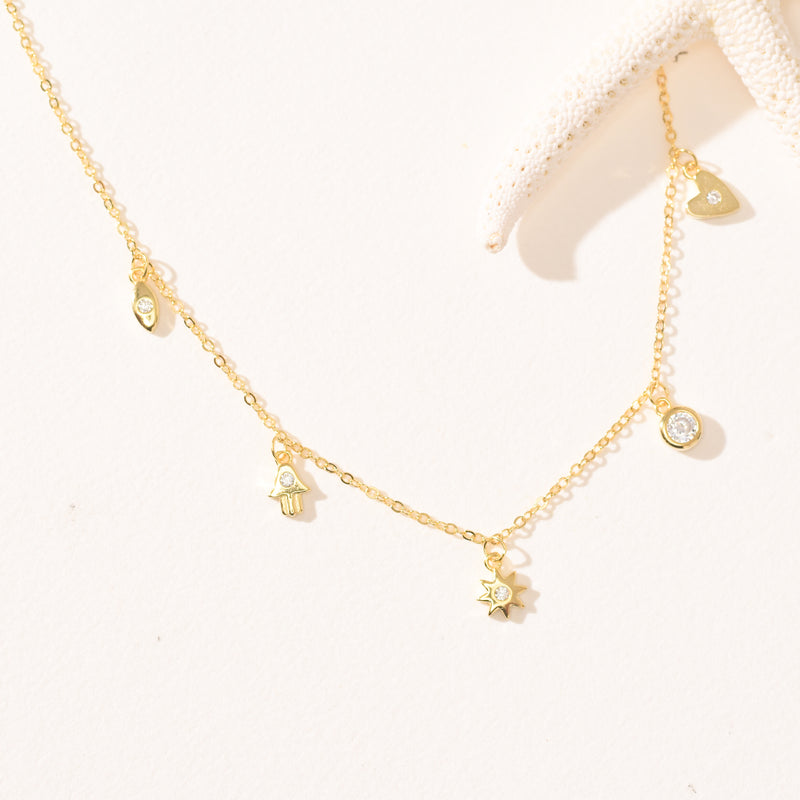 Kauai Moon Gold Vermeil Necklace (14K Gold)