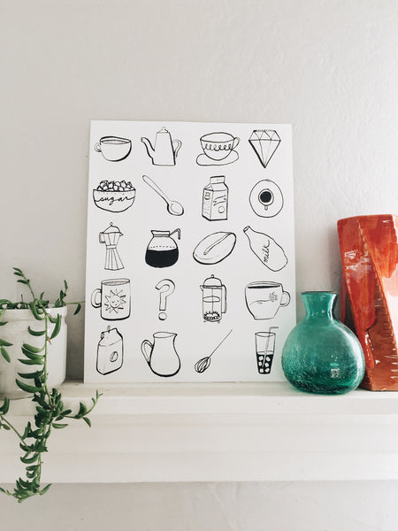 Sara Diamond & Courtney Riddle's Coffee Print