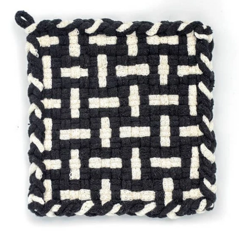 Kate Kilmurray Seedling (Black and Flax) Coaster