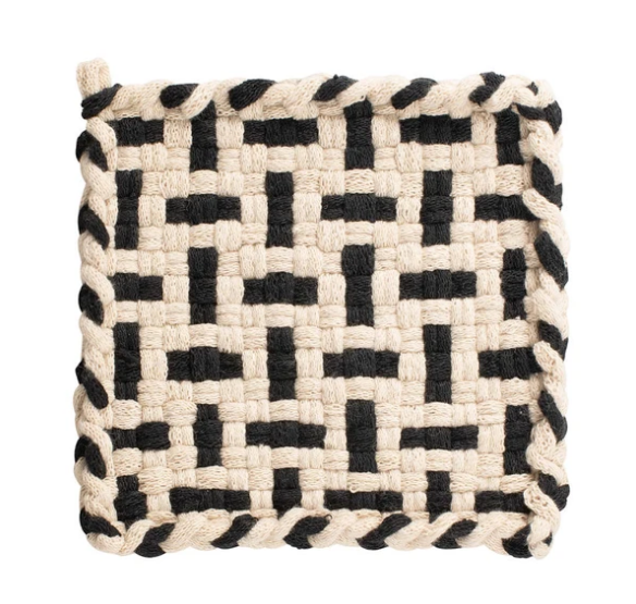 Kate Kilmurray Seedling (Flax and Black) Coaster