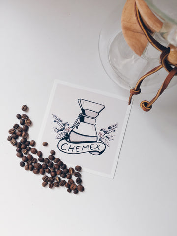Brew Sleep Draw Chemex Print